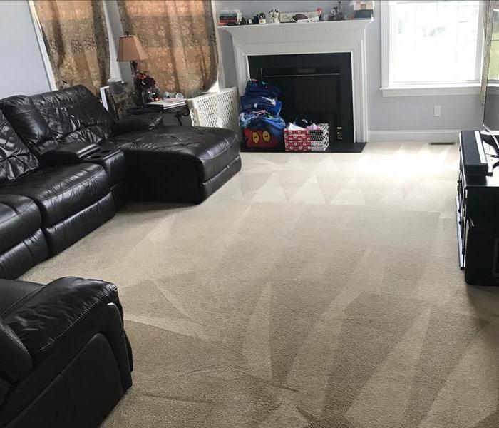 Carpet after being cleaned