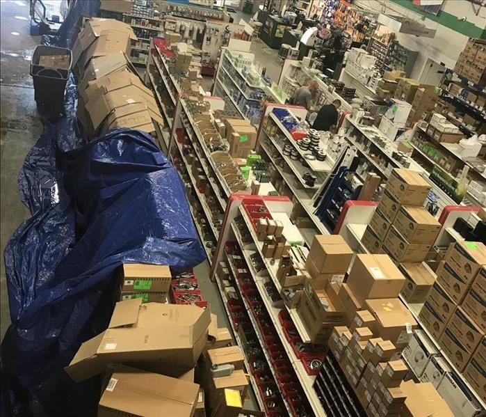 Commercial Storm/Debris Damage Affects Supply Room